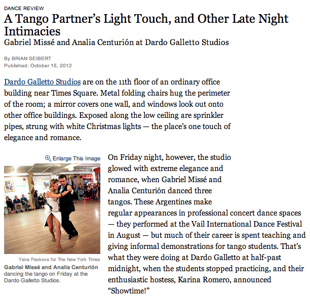 A Tango Partner's Light Touch, and Other Late Night Intimacies