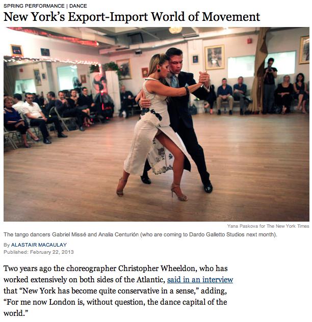 New York's Export-Import World of Movement