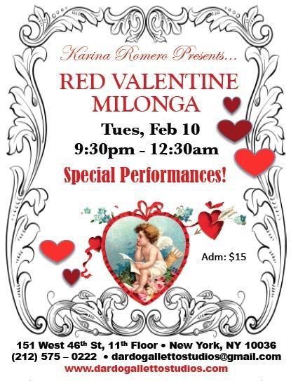 REd Valentine Milonga 2015 poster